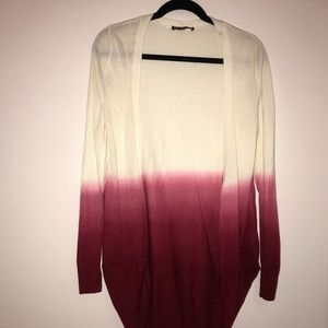 DEMERARA Ombre Sweater Ivory/Red